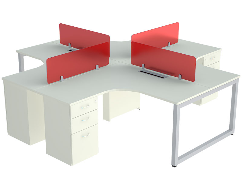 Loop Corner Modular Office Workstations in Bangalore