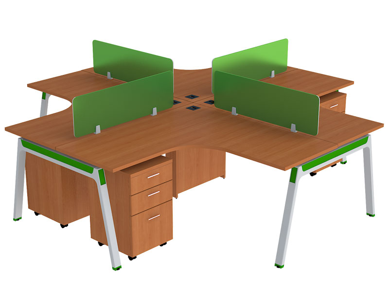Curve Corner Modular Office Workstations in Bangalore