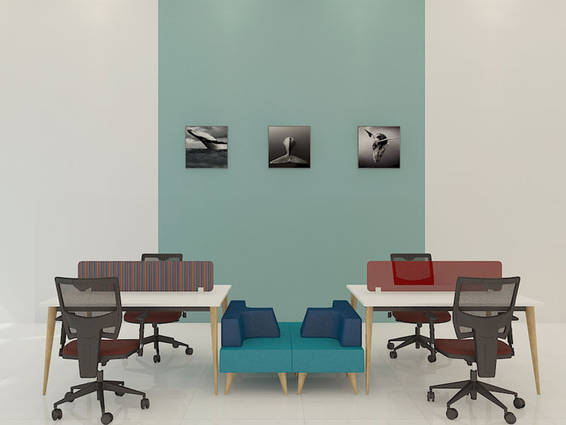 Spark Wood Desking Office Workstation