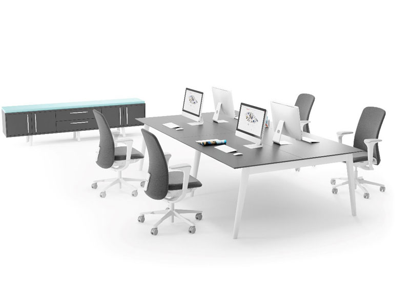 Spark Wood Desking Office Workstation 12
