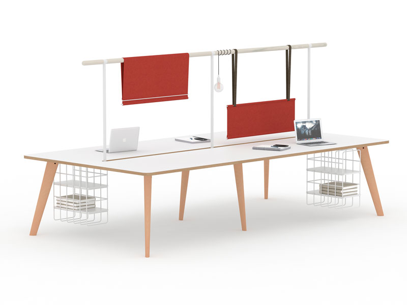 Spark Wood Desking Office Workstation 8