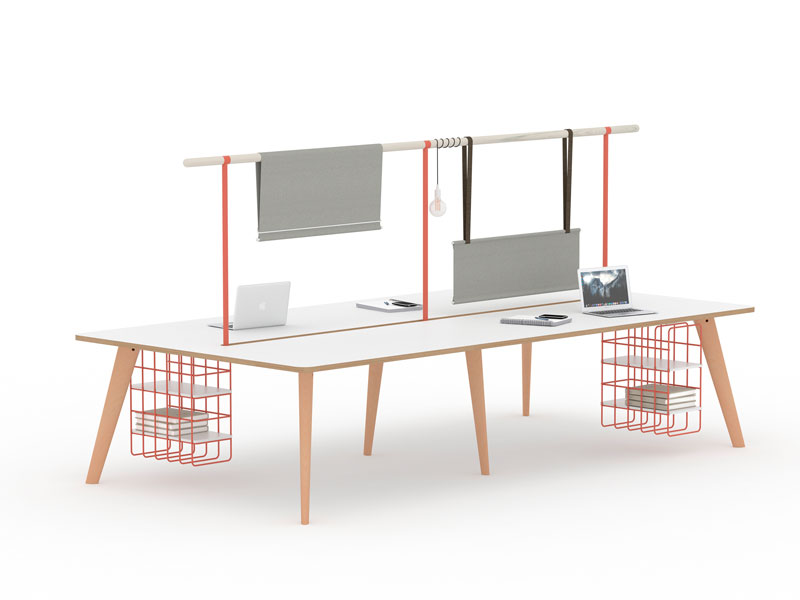 Spark Wood Desking Office Workstation 4
